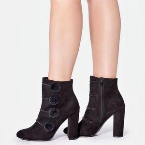 Isabella Bootie Fashion Bootie Lush Pom Pom NIB